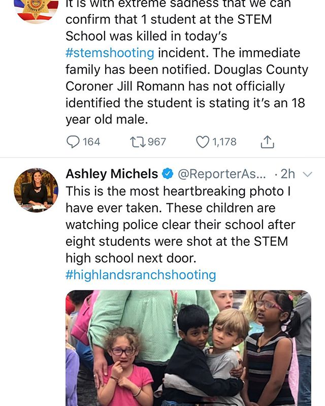 Heartbreaking. It's surreal to get a phone message from your school district about a shooting. Our district, our kids, our sheriff on national news. Our kids who are traumatized.
