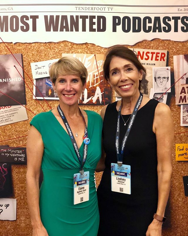 At @podcastmovement with my @podcastallies business partner @elaineagrant. Amazing time to be part of this industry. Kudos #pm19!
