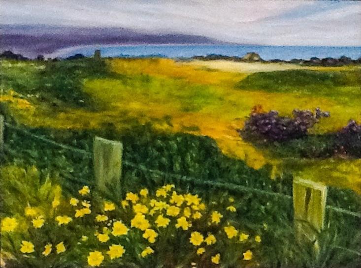 Half Moon Bay III    18 in x 24 in  oil on canvas