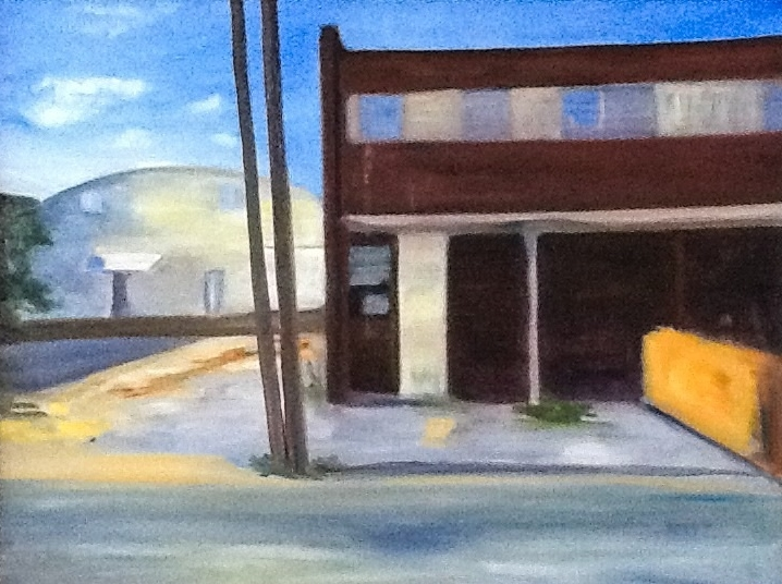 Old Warehouses in Crystal City    18 in x 24 in  oil on canvas
