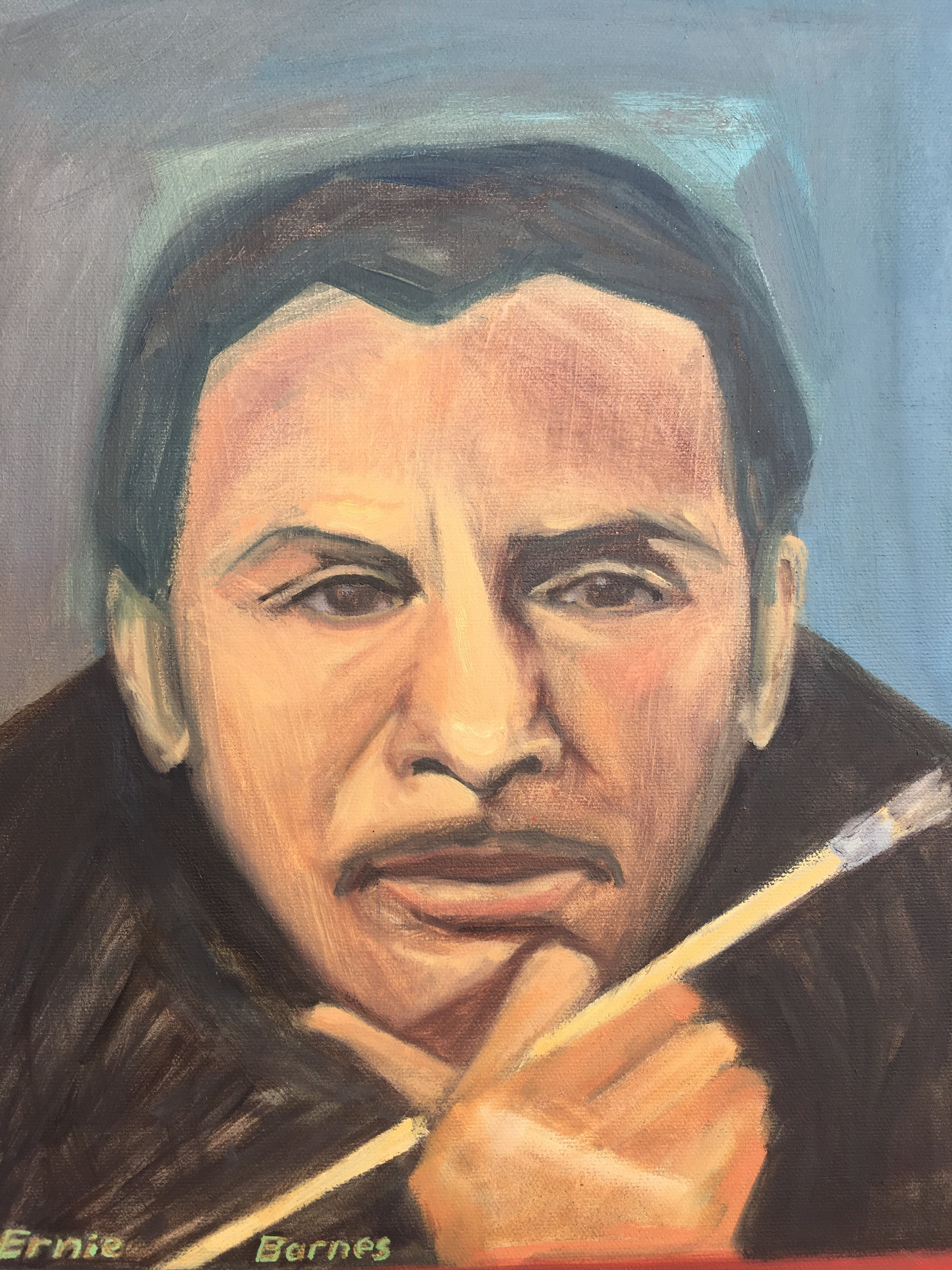 Portrait of artist, Ernie Barnes