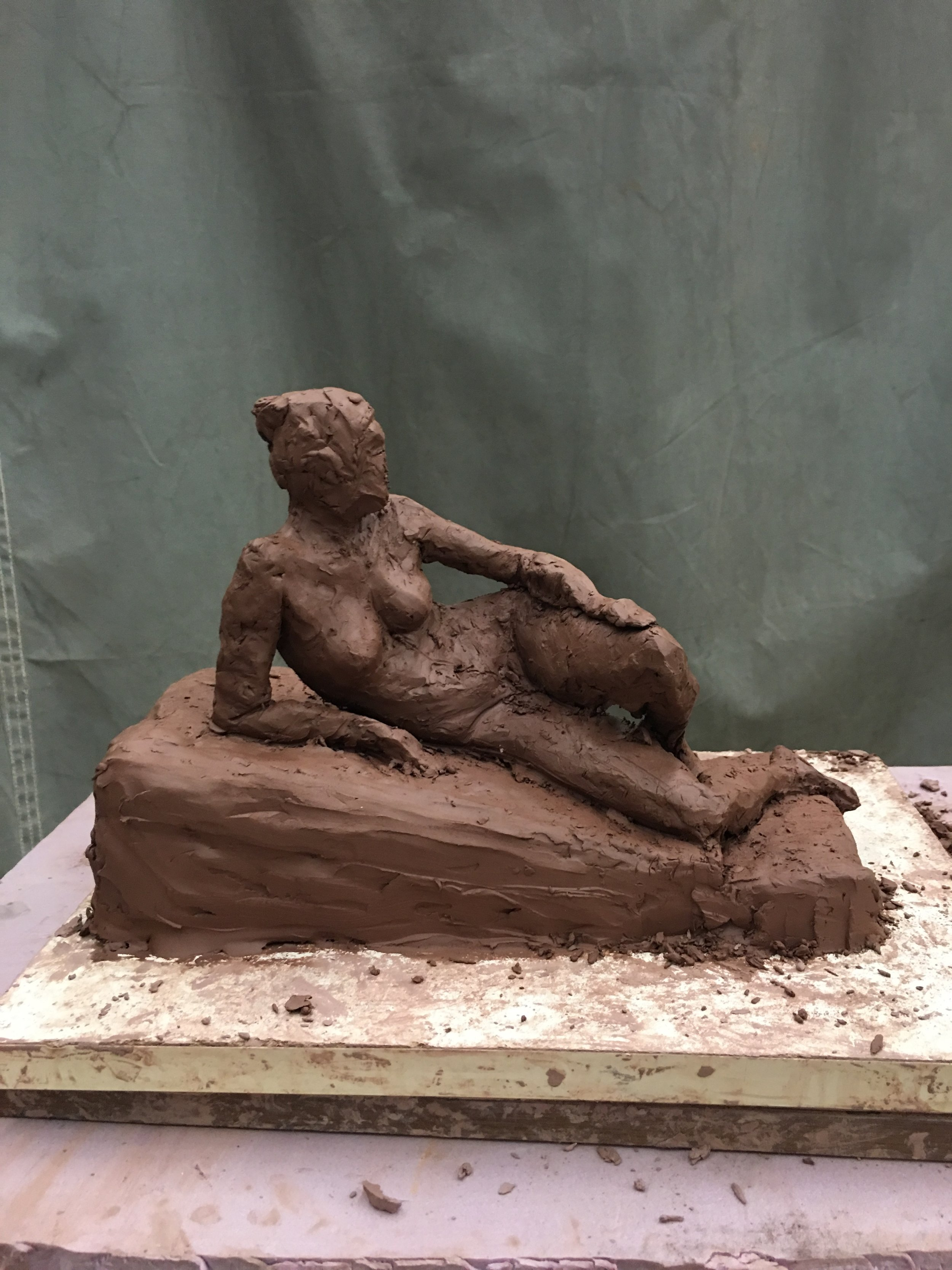 Reclining Woman (anterior view)