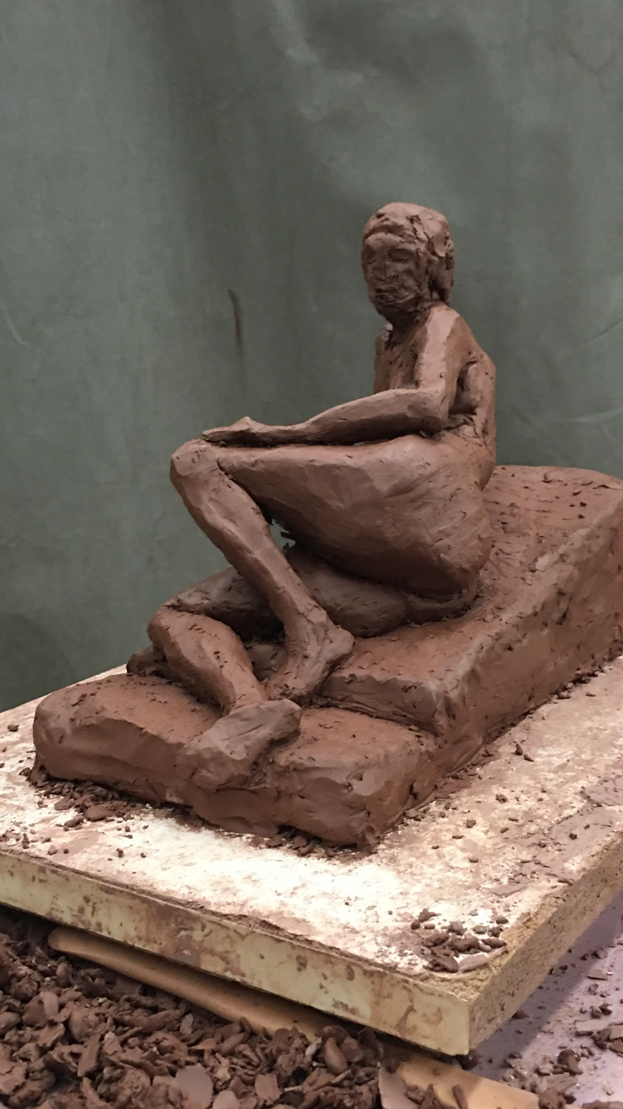 Reclining Woman (3/4 posterior view)