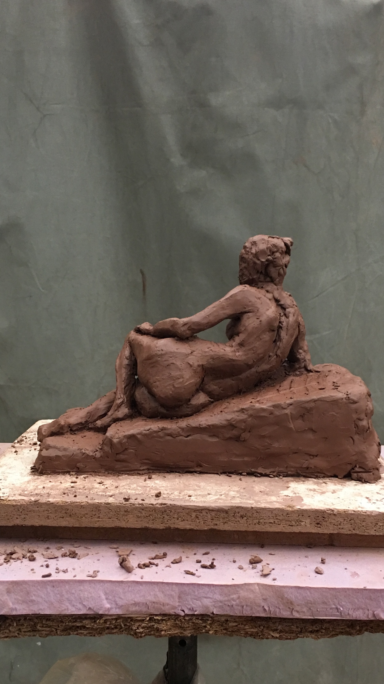 Reclining Woman (posterior view)