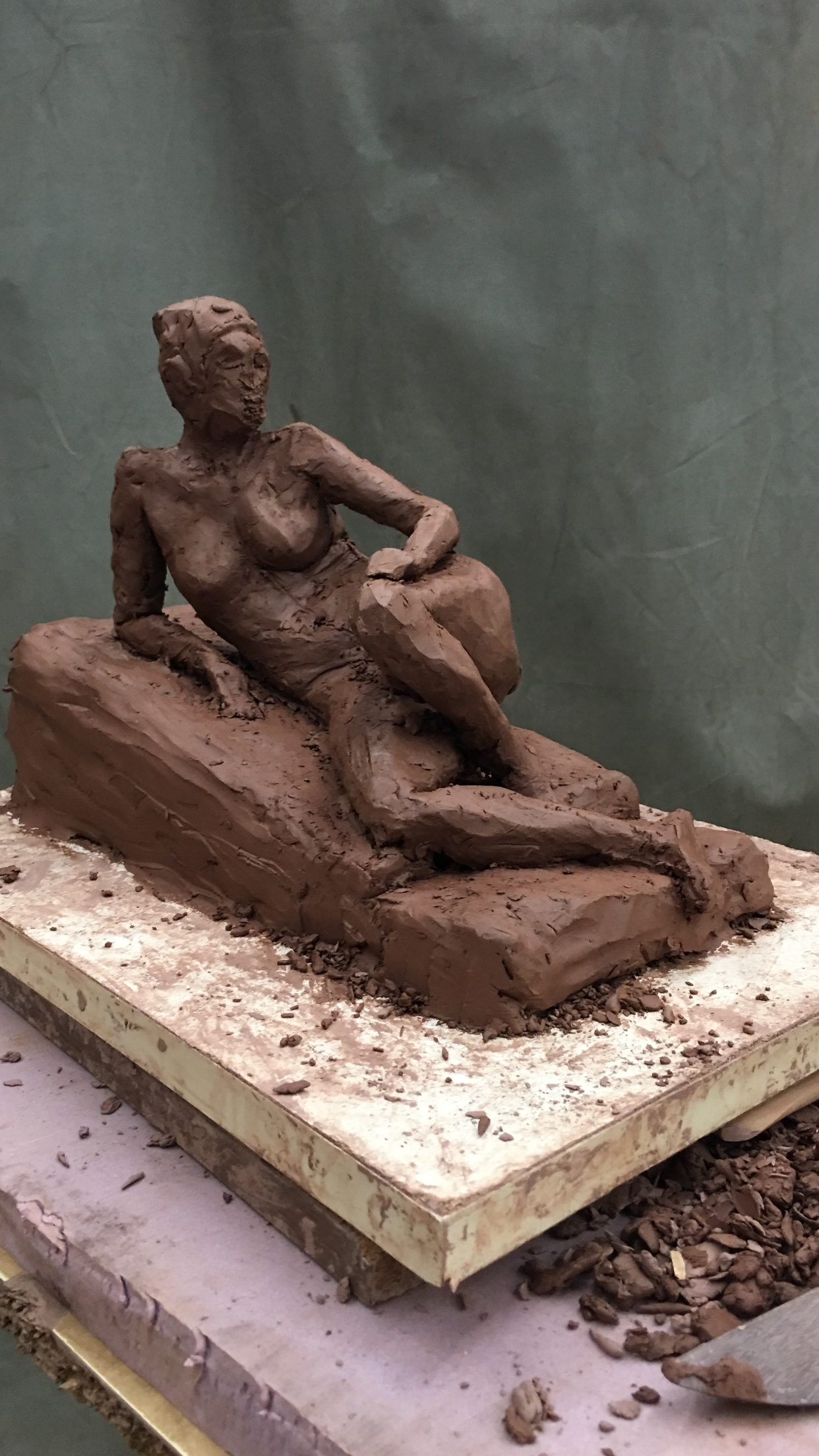 Reclining Woman (3/4 anterior view)