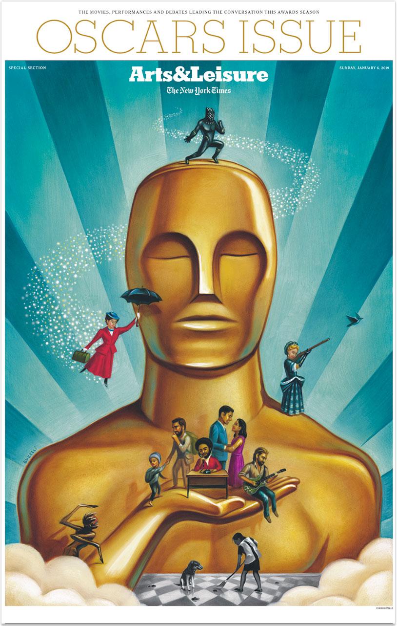 "OscarsPredictions/14""x20""/oil on board"