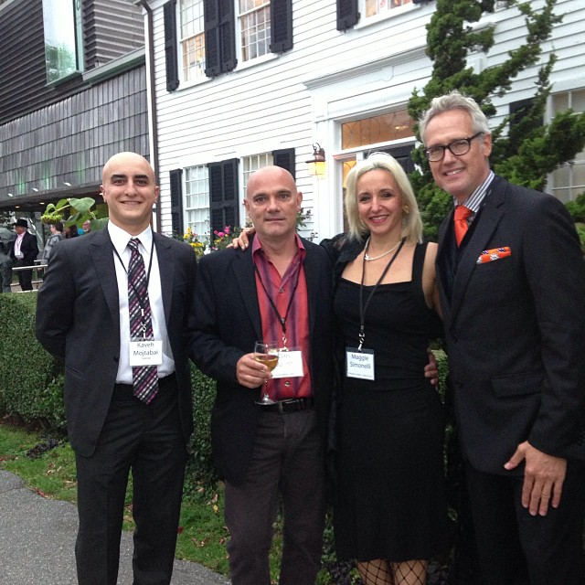 At  Reception at PAAM gala 2013 with ARTSCOPE magazine publisher Kaveh Mojtabai, Art Dealer  Gary Marotta, Artist Maggie Simonelli and Designer, Ken Dietz