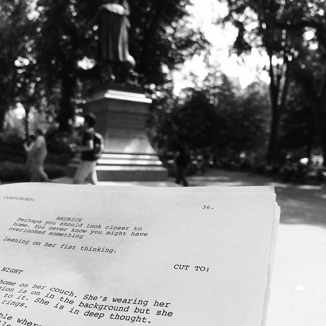 Script work in Central Park, NY #script #screenwriting #screenwriter #filmproduction #filmmaking #featurefilm #nyc #centralpark park