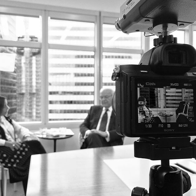 Shooting an interview with Burton M. Tansky. He is an American department store executive who retired as president and chief executive officer of The Neiman Marcus Group Summer of 2010.  #interview #filmproduction #videoproduction #imagemedialab #a7ii