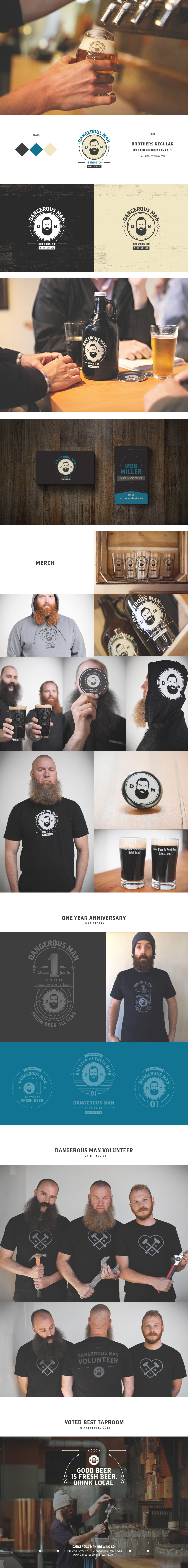 Dangerous Man Brewing Identity by keithevans.com