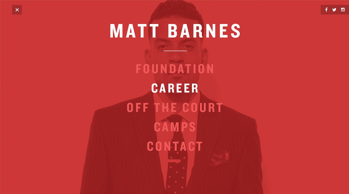 Matt Barnes by keithevans.com
