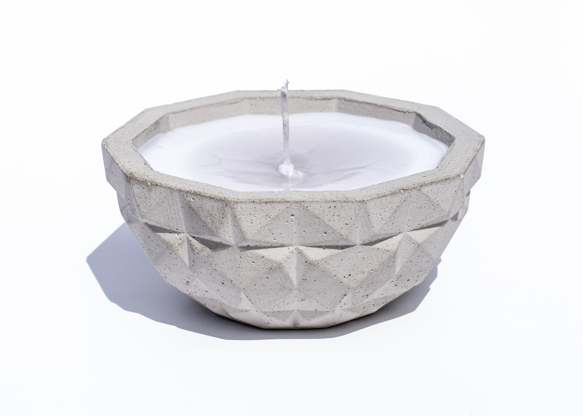 Faceted Concrete Candle/Bowl - 2013