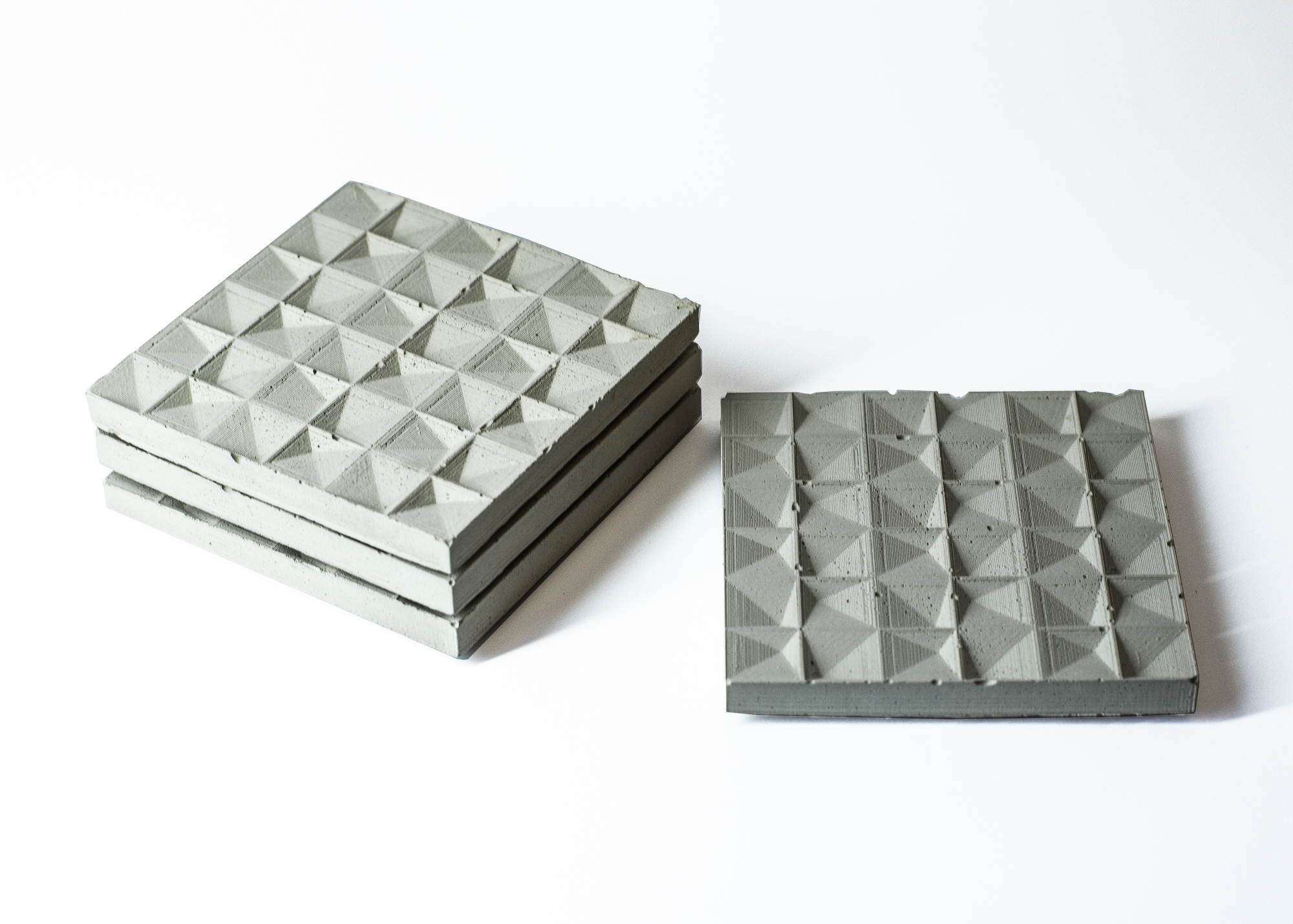 Faceted Concrete Coaster - 2014