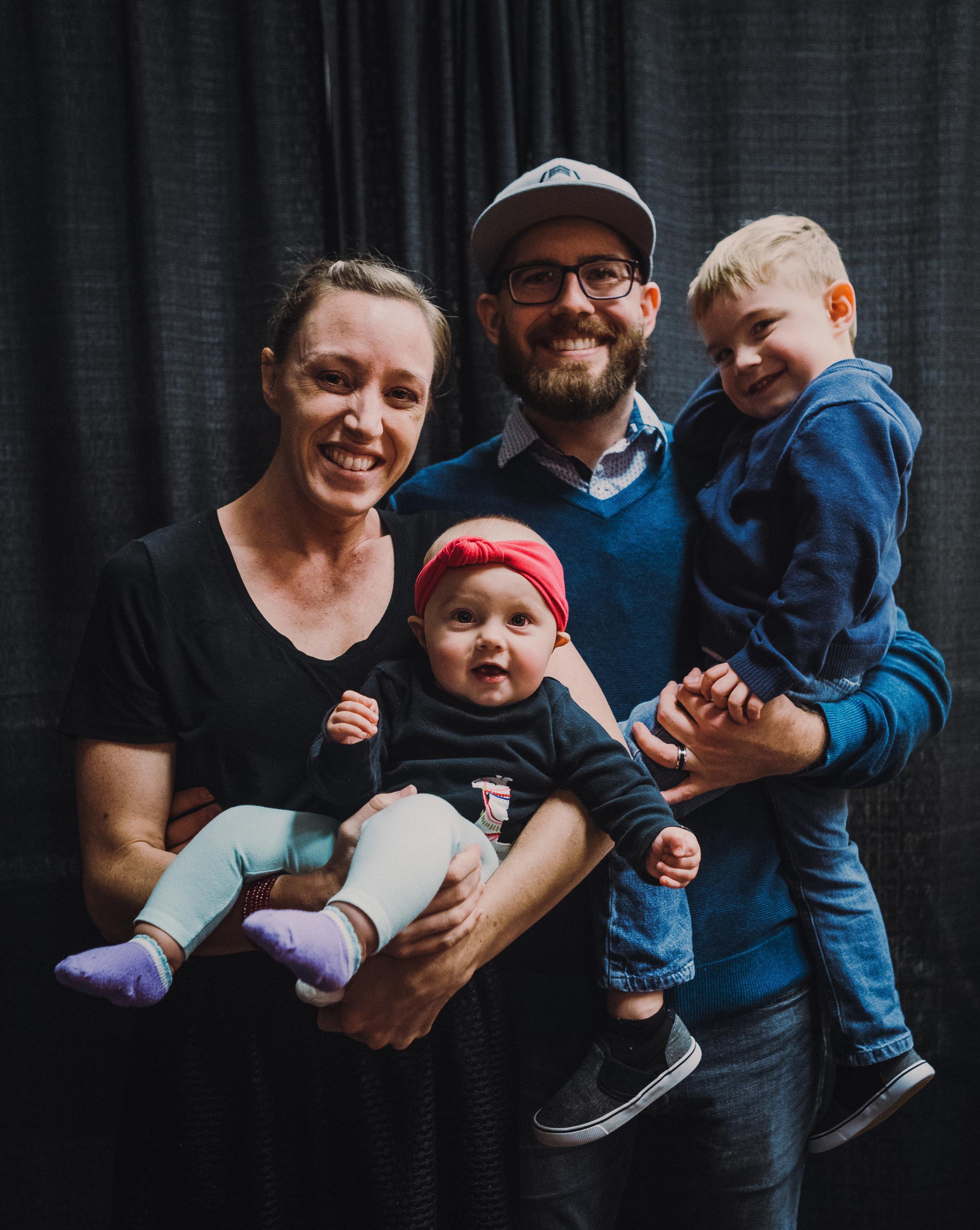 Chad, Amber, Elias & Milly Langhoff (12/22/18)
