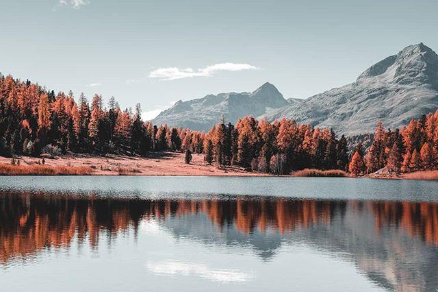 Stazersee 😍 _______________________________________  #macsArt #sony #alpha7 #nature #naturelovers #landscape #mountains #swiss #switzerland #hiking #love #photooftheday #picoftheday #sky #alps #love #autumn #photography #graubünden