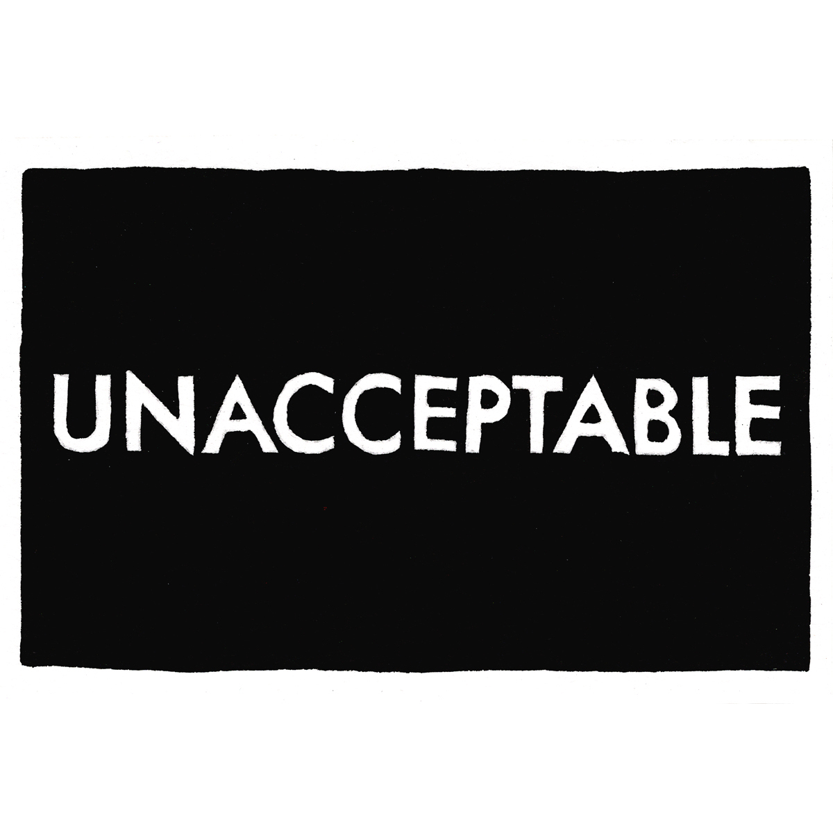 untitled. (unacceptable)  2017  ink on paper postcard  4 x 6 in  unique variant of 5, +2 APs