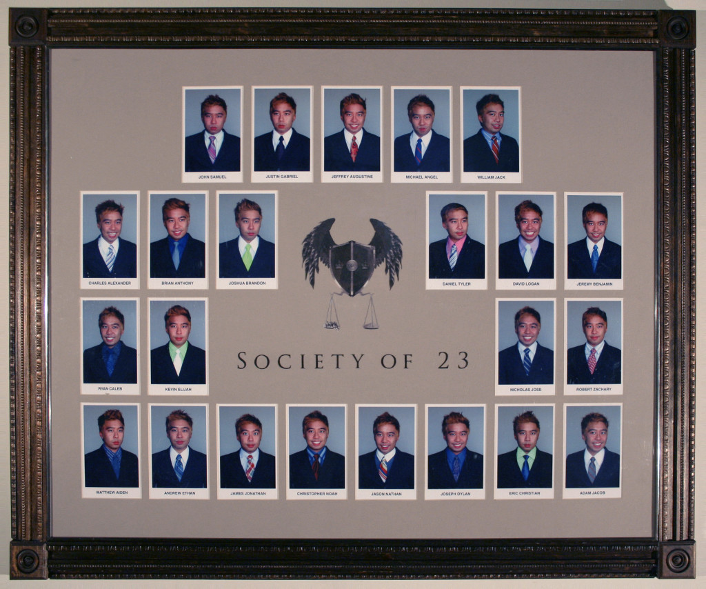"""Join the club and pre-order your very own fine art Composite print from Jeffrey Augustine Songco's SOCIETY OF 23's LOCKER DRESSING ROOM installation. Taken in 2008 and printed in 2018, each 18"""" x 22"""" digital inkjet print is a limited edition of 100 and is accompanied by a certificate of authenticity by the artist.  Inquire  here  for pricing and availability. (or contact  Marly Hammer  +  John Richey )"""
