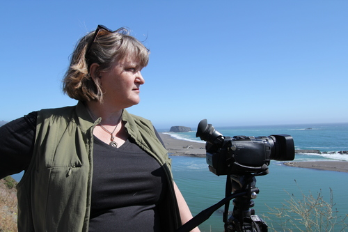 Anthropologist Mary Nolan shoots a coastal scene.