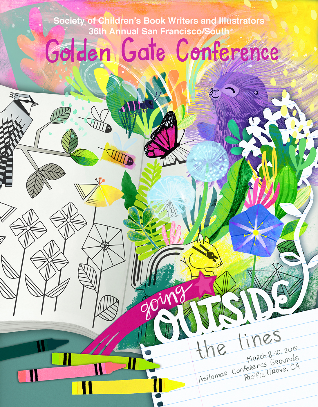Folder Design for SCBWI Golden Gate Conference
