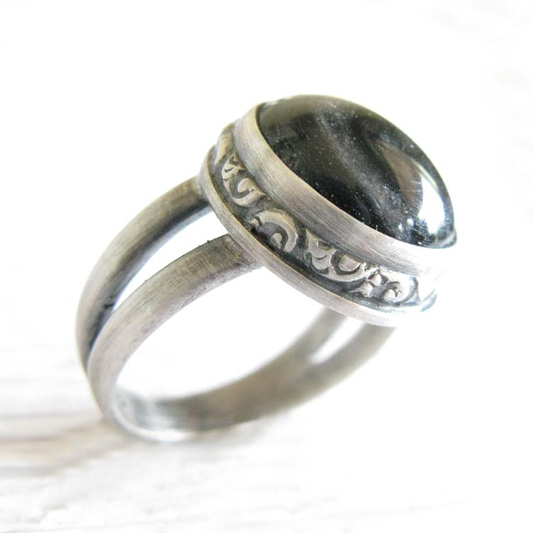 Miracle ~ Glass cremation ring sterling silver jewelry with cross (14).jpg