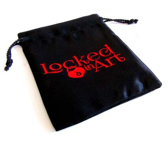 Cremation ashes in satin bag