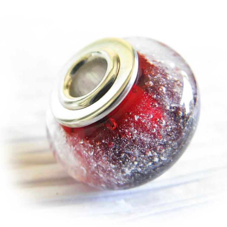 Essence ~ Glass cremation bead sterling silver charm (7).jpg