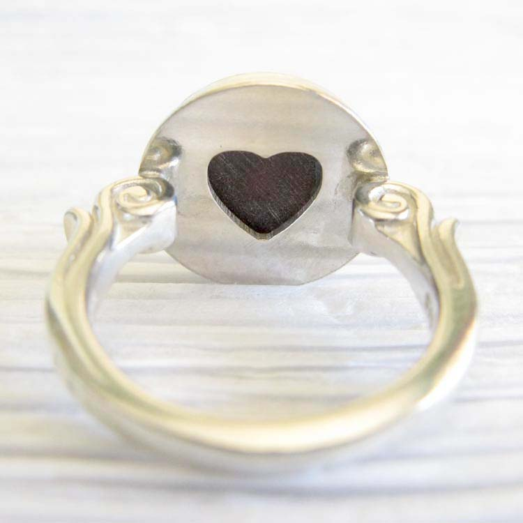Affection ~ Glass cremation jewelry sterling silver ring with heart 20.jpg