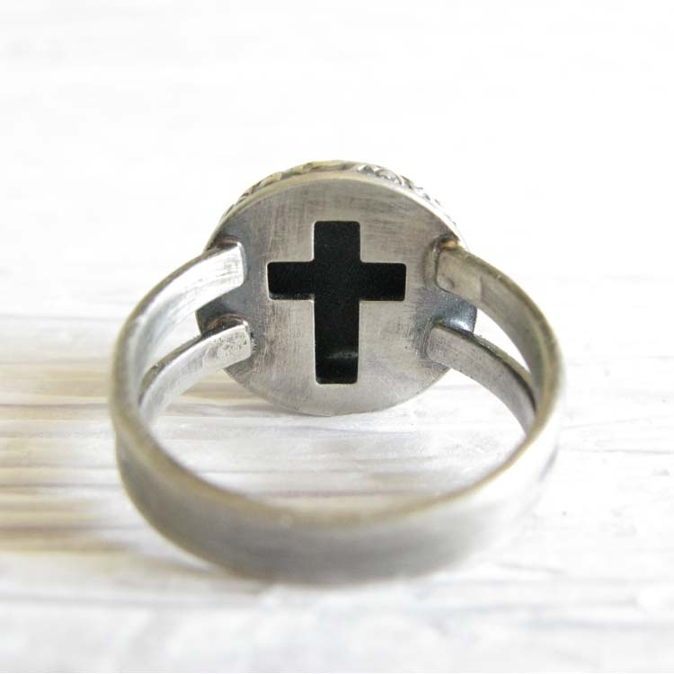 Miracle ~ Glass cremation ring sterling silver jewelry with cross (18).jpg