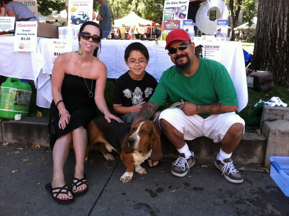 Adopting Roscoe at Dogtoberfest in Downtown Prescott 2012
