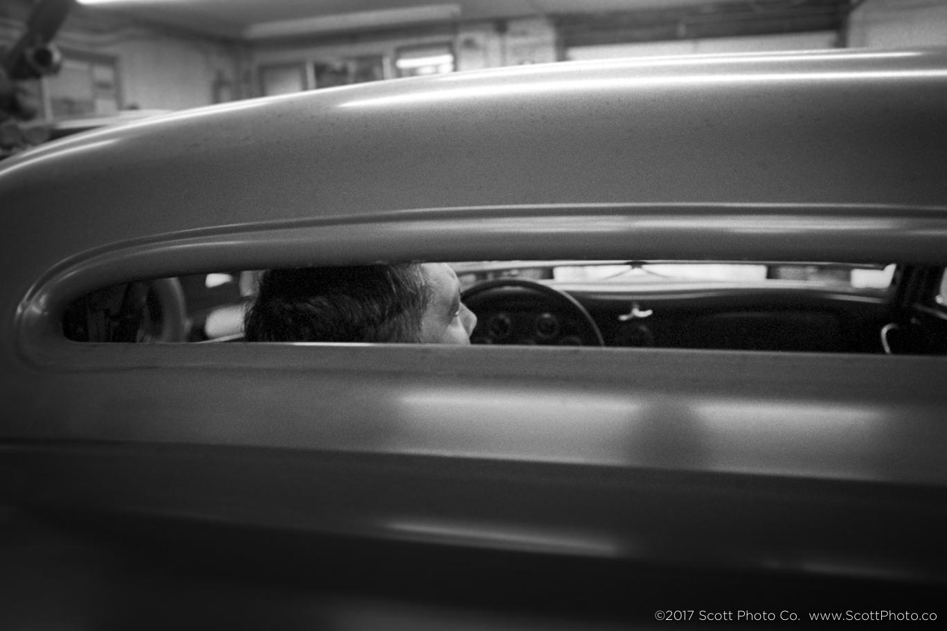 Mike lusting after a Bones car