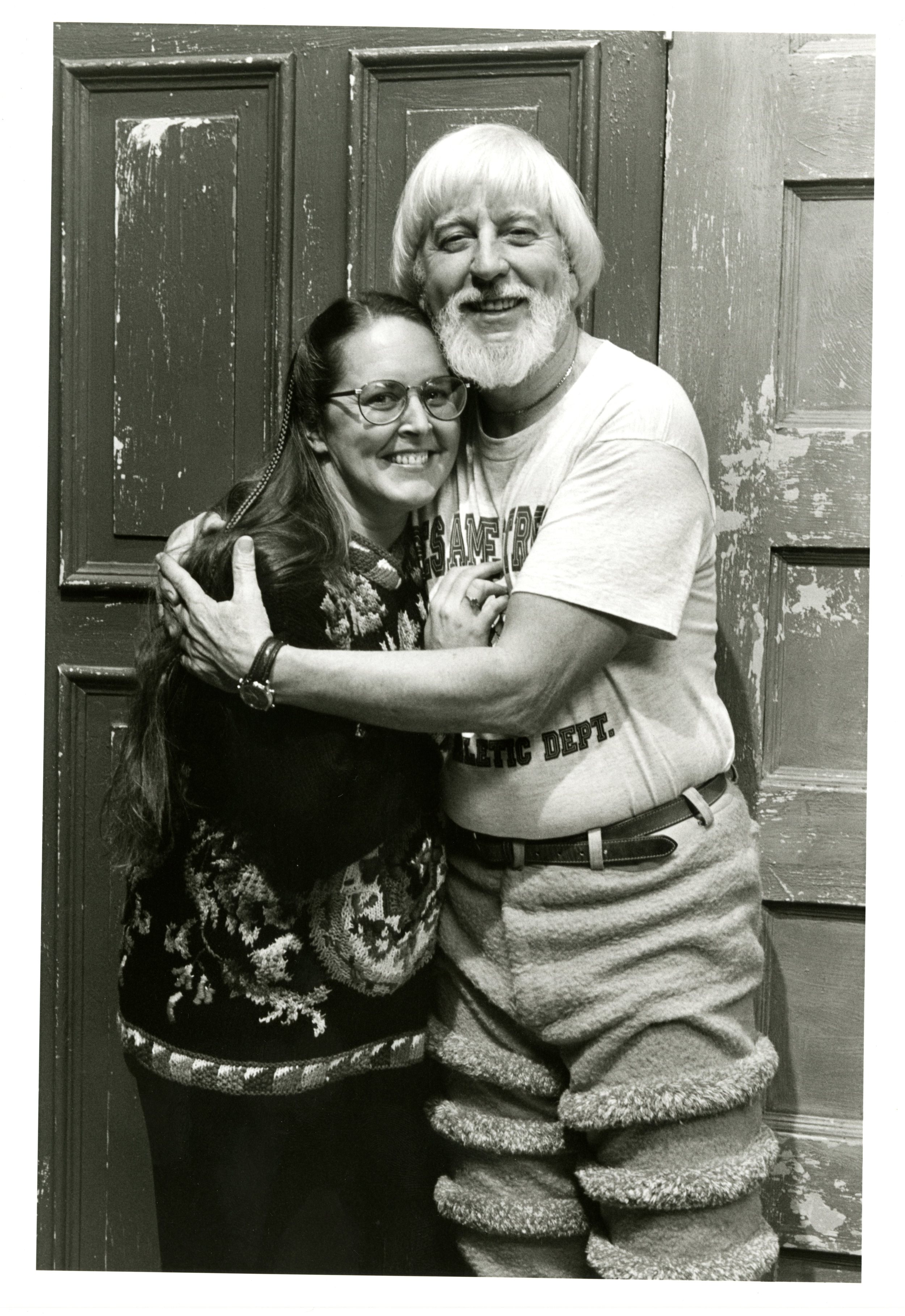 Archival photo of Debra Spinney and Caroll Spinney. Photo courtesy of Debra Spinney.