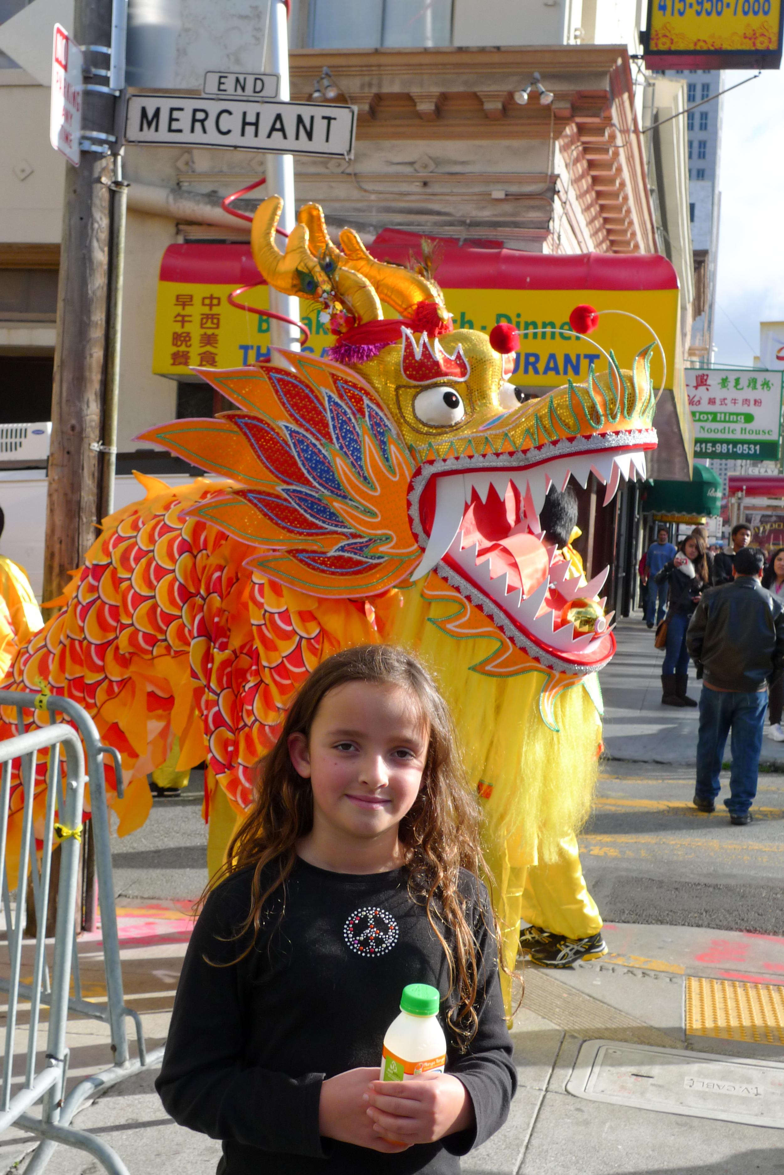 """268 foot long Golden Dragon (""""Gum Lung"""")"""
