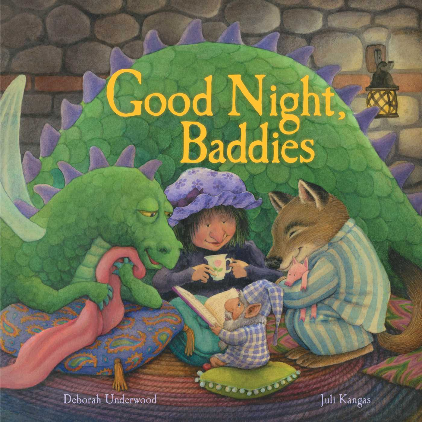 Good Night Baddies  by Deborah Underwood   All fairy tales have a bad guy; an evil witch, a hungry wolf or an angry giant. But what if being a bad guy is just a day job? When they get together in the evening for dinner, what would they talk about? What is their side of the story? I love this book, because preschoolers especially are often obsessed with bad guys and good guys. In  Good Night Baddies we get to see a complex mix of both in some characters the reader will easily recognize.