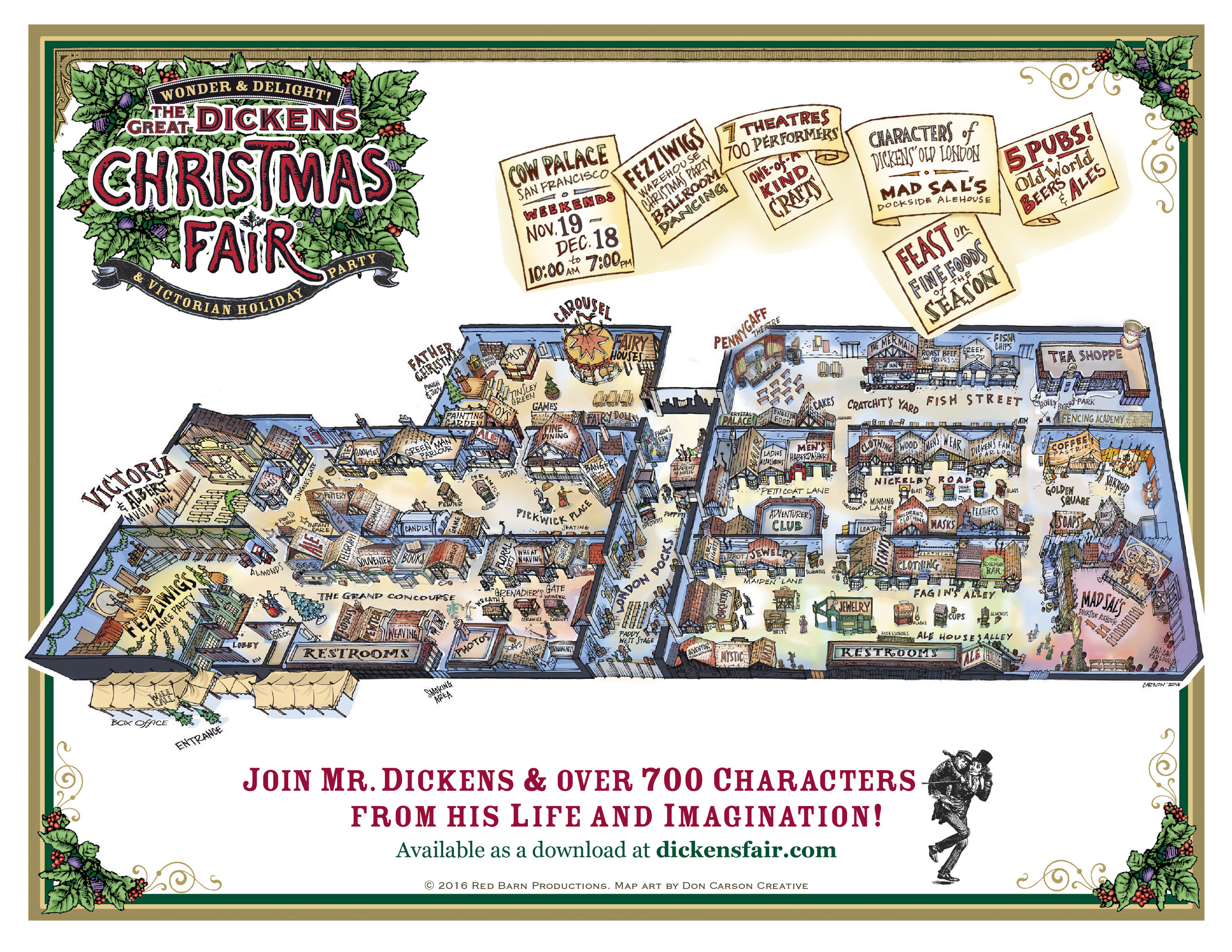 Map Of The Great Dickens Christmas Fair