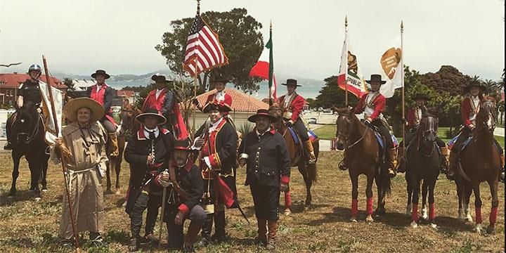 Pasados del Presidio Los Californianos Commemoration of the Anza Expedition - Saturday June 29Descendants of the founding families of the Juan Bautista de Anza Expedition (1775-76) return to the Presidio to recognize the journey of their ancestors and the establishment of El Presidio de San Francisco. This program includes formal remarks, a procession by the Amigos de Anza horse-mounted riders, and a roll call of the people who made the original 1,200 mile trek from Sonora, Mexico in 1776.Meet at Pershing Square, across from the Presidio Officers' Club.