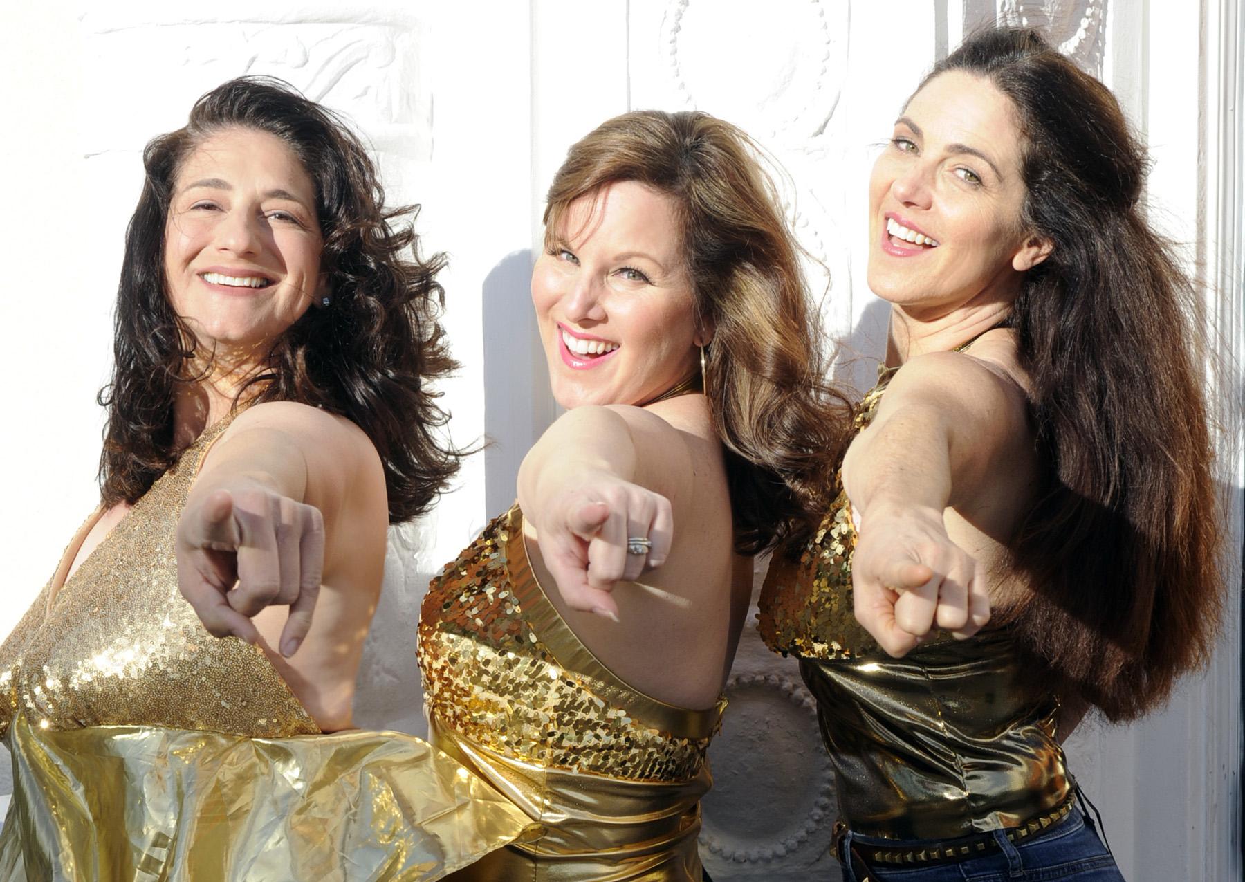 Jennifer McGeorge (Rosie Mulligan), Dyan McBride (Donna Sheridan), and Susan Zelinsky (Tanya Cresham).  Photo courtesy of Mountain Play.