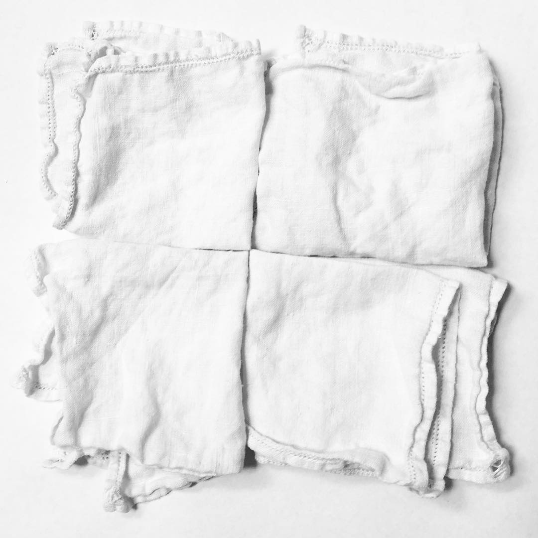 Cloth Napkins - Switch from disposable paper napkins to cloth ones. Here are the reasons why: 1. You produce less trash with cloth.2. Cloth napkins are more durable and attractive. 3. You save trees.4. Kids can't secretly shred cloth under the table and make a heinous mess. 5. You can save even more money by making your own from old pieces of fabric or buying vintage ones from a thrift shop. Ours are lovely vintage linen passed down to me from a relative. A simple switch like this can truly add up to environmental, and pocketbook, savings. #littlethings #inspiration #savetheplanet #getcreative #marincounty #instagood #savetrees #littleactsbigchange