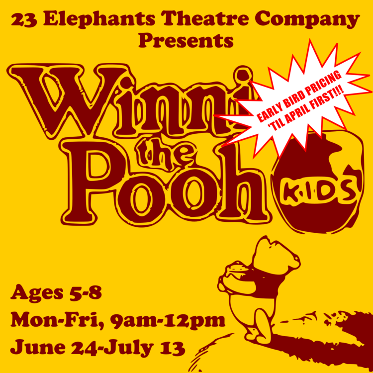 WINNIE THE POOH KIDS (Ages 5 to 8) - Disney's Winnie the Pooh KIDS is a delightful show based on the beloved characters of A.A. Milne and the 2011 Disney animated feature film. Featuring favorite songs from the film, as well as new hits by the Academy Award-winning Robert and Kristen Lopez (Frozen), this honey-filled delight is as sweet as it is fun. Welcome to the Hundred Acre Wood, where Winnie the Pooh is once again in search of honey. Filled with all of their favorite characters, Disney's Winnie the Pooh KIDS is a favorite for children to perform.
