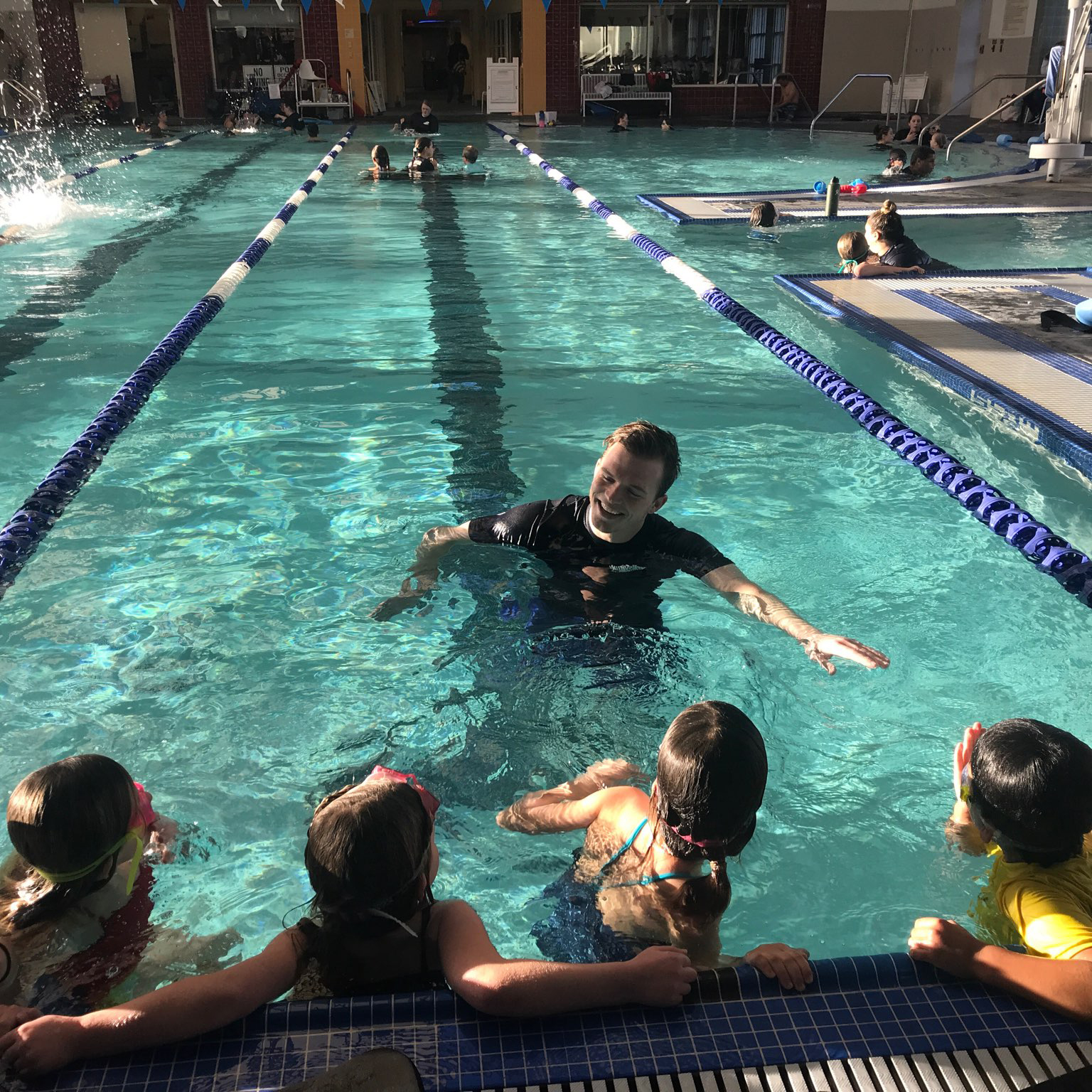 Swim Lessons - Providing a high-quality aquatic program that teaches participants of all ages and abilities how to be safe in, on and around the water as well as proper swimming skills and techniques.