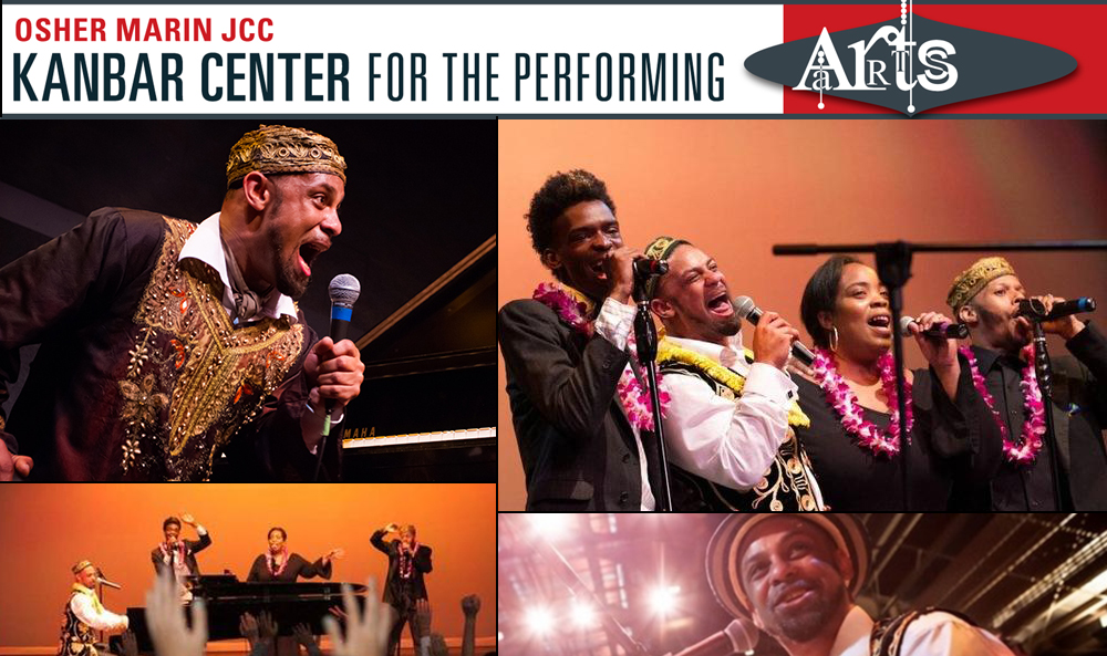 Joshua Nelson & The Kosher Gospel Singers - Sat, March 16, 2019 8:00 pmThe Prince of Kosher Gospel returns to the JCC for another high-energy captivating performance. Joshua brings his extraordinary message of hope, unity and spirituality through kosher gospel, a marriage of Jewish religious lyrics and meanings with the soulful sounds of American gospel music.