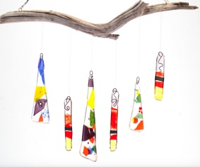 Spring Break Wind Chime Day Camp - Monday April 8, 11am-2pm $150Spring Break is here and mom and dad need a break too! One of our most popular classes is back as a day camp. With step-by-step instruction, your child will learn to draw a blueprint, shape their glass chimes, and decorate their creation however they wish. This stunning project will be just as unique as its creator! Pack a lunch for your child, join us for fused glass fun and three hours of drop-off child care. Ages 6 to 12 are welcome.
