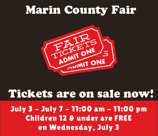 "Don't wait, buy your Fair tickets NOW for best prices! - The award-winning Marin County Fair combines the red, white and blue of America's history with the green of American's future in sustainability by integrating environmental stewardship at the Fair. From renewable energy, waste diversion, energy efficiency, and water conservation in partnership with over a dozen public agencies, non-profit organizations and companies who support the ongoing efforts of the Fair to incorporate sustainable business practices, the Marin County Fair is proud to be ""The Greenest Fair on Earth!"""