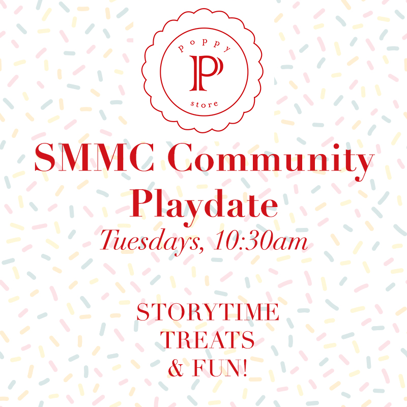 Southern Marin Mothers' Club Playdate - Every Tuesday, 10:30am, Poppy StoreEnjoy a morning of art & story time for kids and coffee and pastries for accompanying guardians.