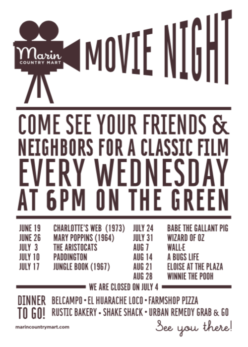Movie Night at the Mart! - Every Wednesday 6:00pmMeet us at the Mart for a good old fashioned movie night! Every Wednesday at 6pm, we'll be screening a classic. This week we have The Aristocats. Grab a snack from your favorite Mart eatery and settle in for cinematic fun the whole family will enjoy!NEW family pizzas from Farmshop! 😋