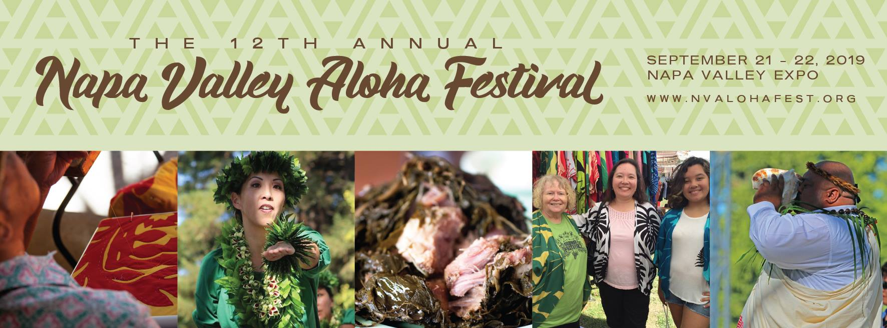 Napa Valley Aloha Festival - September 21-22Napa Valley ExpoLive entertainment, food, workshops, cultural exhibits and more. Best of all parking and admission are free! No tix required. Bring the ohana and enjoy some Aloha in the Napa Valley.