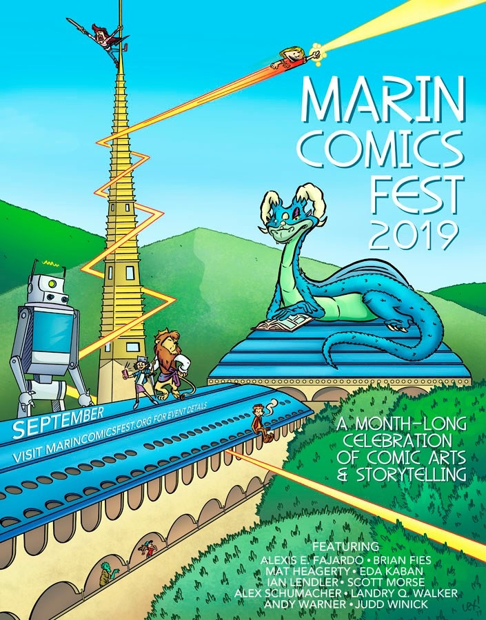 Marin Comics Fest - Now features a series free creator talks, demonstrations, and book signings at several venues around the county throughout the month of September. It's an excellent opportunity to discover new comics, books, and graphic novels and to meet the illustrators and authors behind them.