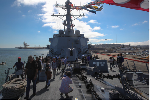 Visiting Ships & Tours - Throughout Fleet Week, thousands of visitors climb aboard amphibious carriers, destroyers and cruisers docked at the Embarcadero to get a glimpse into the day-to-day lives of the sailors serving in the U.S. Navy, U.S. Coast Guard and the Royal Canadian Navy.