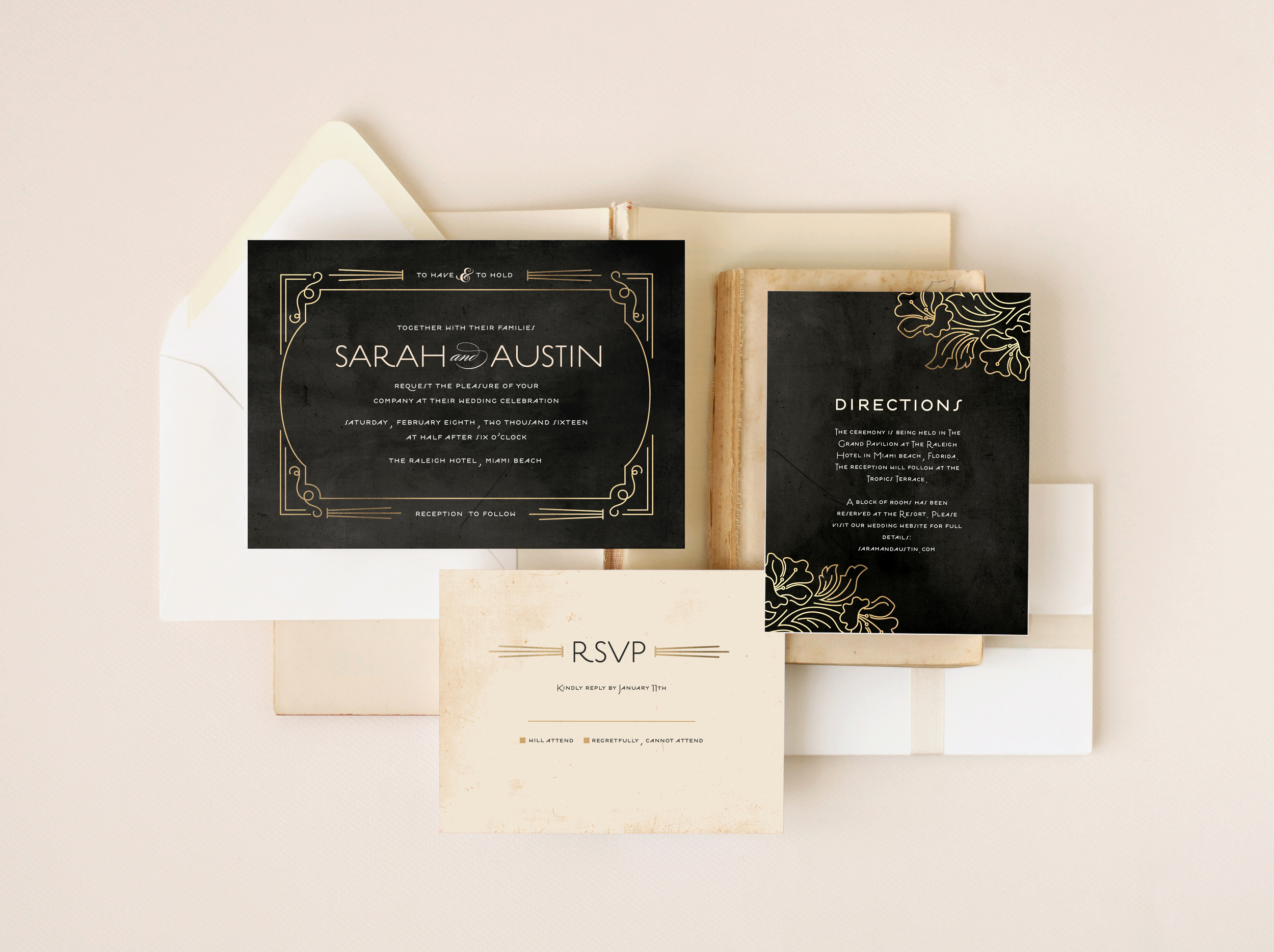 Wedding invitation suite for Minted.com