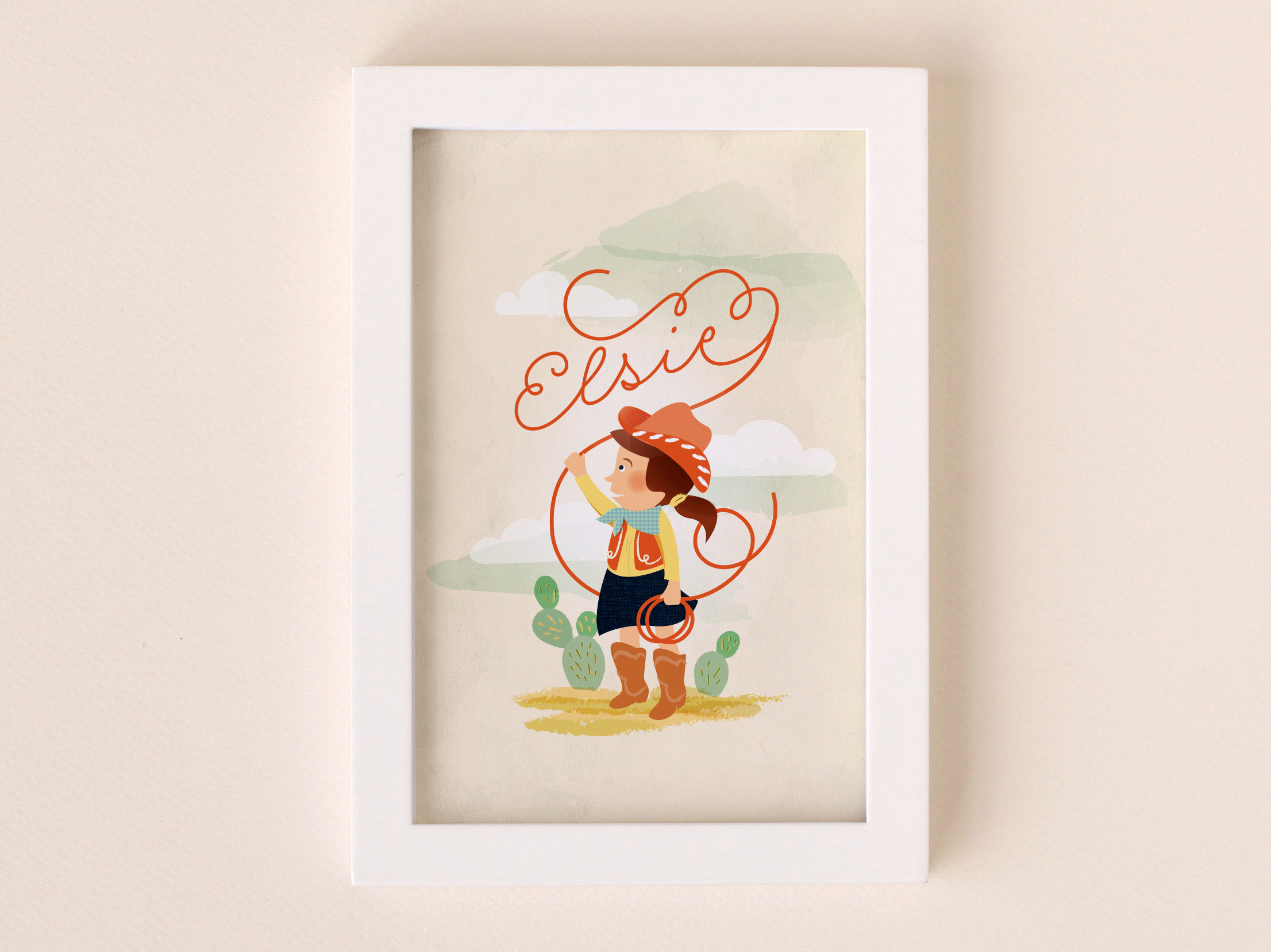 Customizable wall art illustration for Minted.com