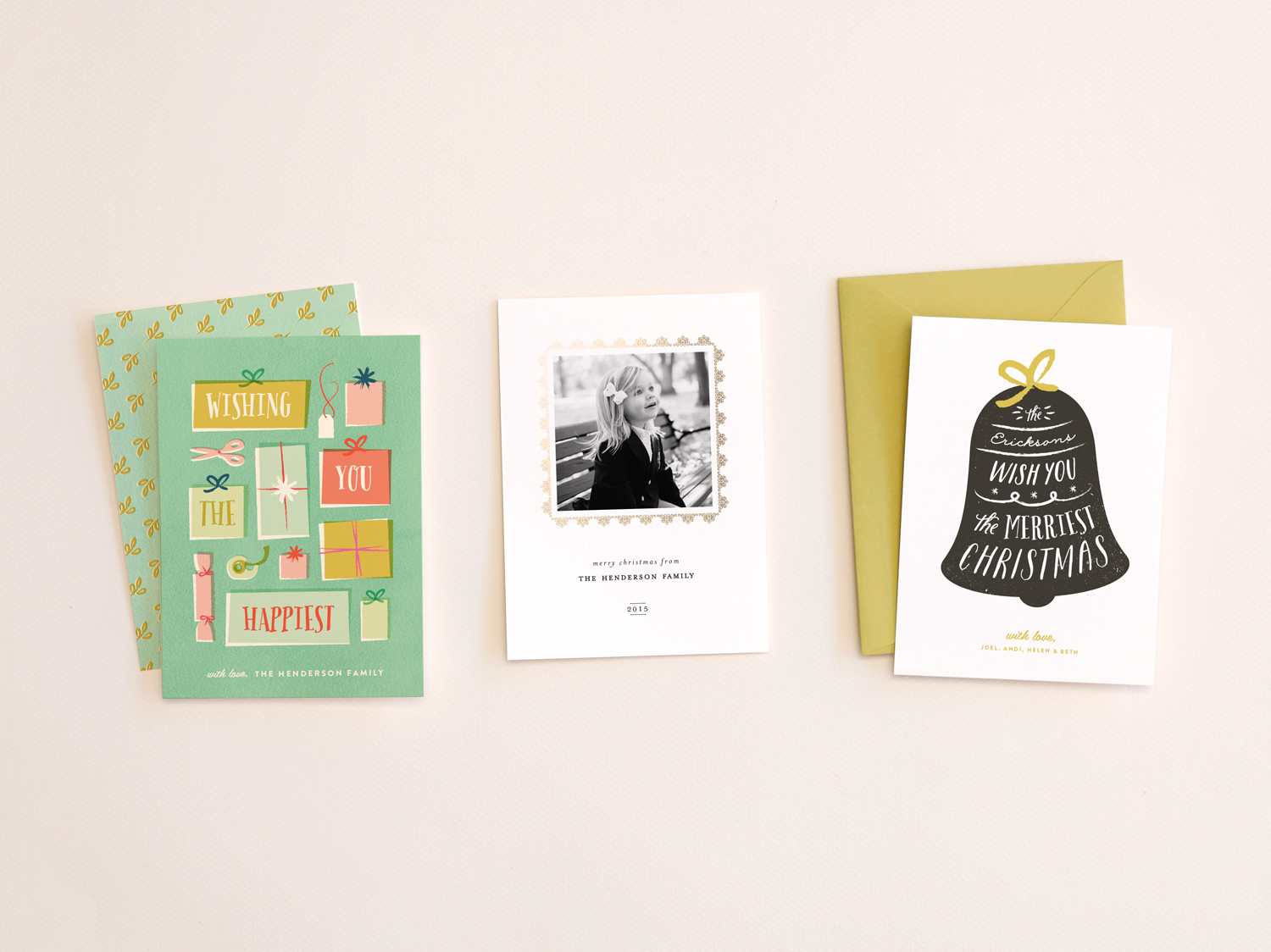 Holiday card designs for Minted.com